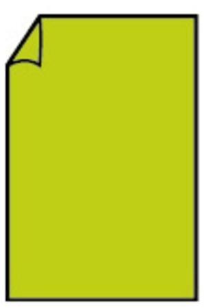 Correspondentiekaart 85x128mm appel groen
