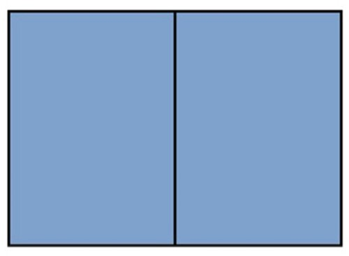Correspondentiekaart dubbel A6 midden blauw