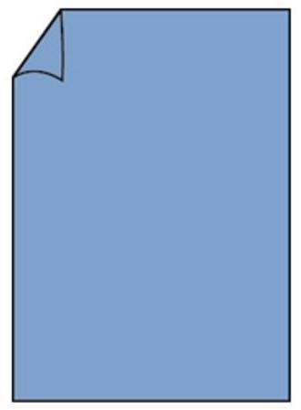 Correspondentiekaart 85x128mm midden blauw