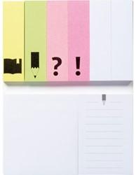 Memoblok Bruna actieboekje 120x75mm zelfklevend papier