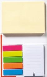 Memoblok Bruna actieboekje 110x80mm zelfklevend papier