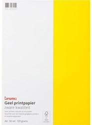 Gekleurd papier Bruna A4 120gr 50vel geel