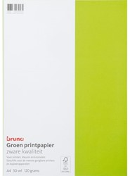 Gekleurd papier Bruna A4 120gr 50vel groen