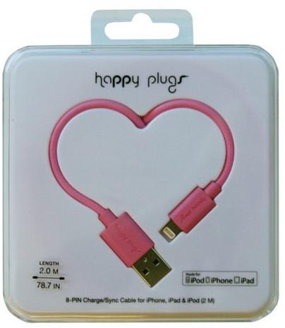 Kabel Hama Happy Plugs USB 2m roze