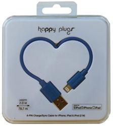 Kabel Hama Happy Plugs USB 2m blauw