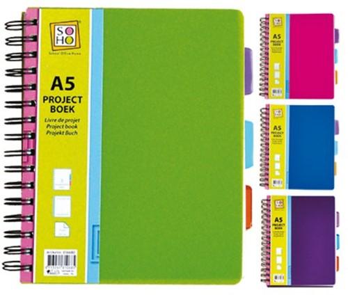 Projectboekk A5 3-tabs 200vel-1