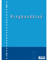 Ringbandblok A4 23-gaats ruit 10mm