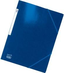 Elastomap Elba A4 glanskarton blauw
