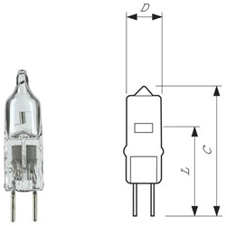 Halogeenlamp Philips Capsule 20W 12V fitting GY6.35