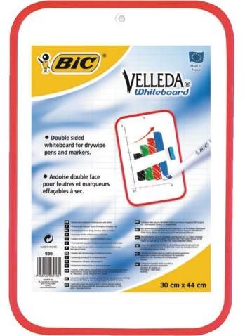 Whiteboard Bic Velleda 30x44cm niet magnetisch