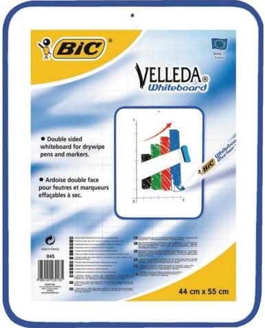 Whiteboard Bic Velleda 44x55cm niet magnetisch