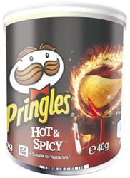 Chips pringles hot and spicey 40gr