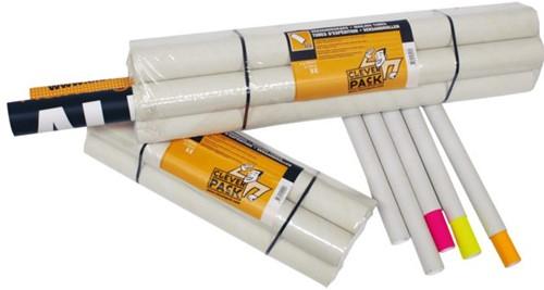 Verzendkoker CleverPack A2 +doppen 450x50x1.5 wit