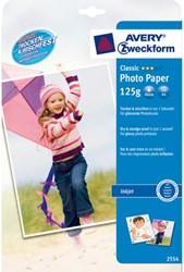 Inkjetpapier Avery 2554-20 A4 125gr glans 20vel