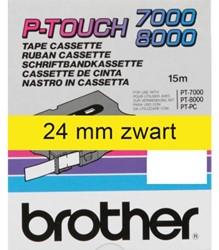 Labeltape Brother P-touch TX651 24mm zwart op geel