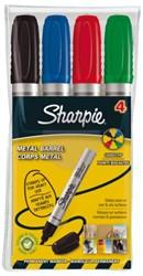 Viltstift Sharpie Pro schuin assorti 2-5mm 4stuks in etui