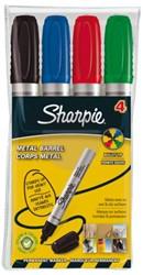 Viltstift Sharpie Pro rond assorti 1.5-3mm 4stuks in etui
