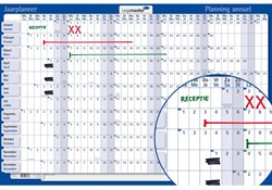 Jaarplanner Legamaster 420122 horizontaal 2016 60x90 plano