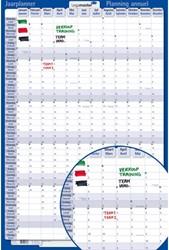 Jaarplanner Legamaster 421222 verticaal 2016 60x90 oprolbaar