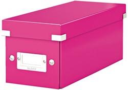 Cd box Leitz Click en Store WOW 143x136x352mm roze