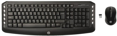 Toetsenbord HP + muis draadloos Qwerty zwart