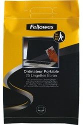 Reiniger Fellowes beeldscherm doekjes nat 25stuks