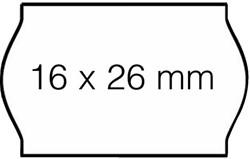 Prijsetiket 16x26mm Open-Data S14 afneembaar wit