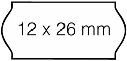 Prijsetiket 12x26mm Open-Data C6 permanent wit