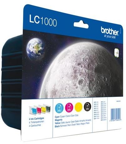 Inkcartridge Brother LC-1000VALBP zwart+3 kleuren