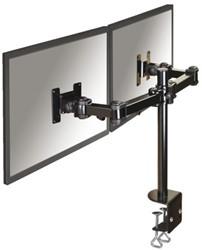 Flatscreenarm Newstar D960D 2 schermen met klem zwart