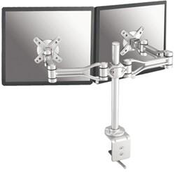 Flatscreenarm Newstar D1030D 2 schermen zilver