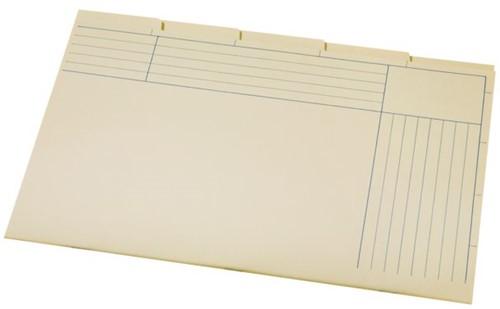 Binnenmap A6200-5 folio 5DLG karton chamois