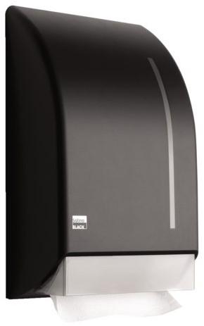 Dispenser Satino Black voor handdoekken zigzag gevouwen