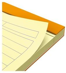 Schrijfblok Oxford Everyday A4 gelinieerd geel papier