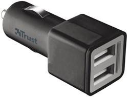 Oplader Trust car charger + 2 USB port2 12watt