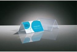 Tafelnaambord Sigel 100x60mm 2-zijdig transparant