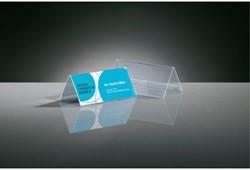 Tafelnaambord Sigel 95x42mm 2-zijdig transparant
