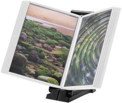 Infomanager Flex-O-Frame basis met 10-tassen antraciet/wit