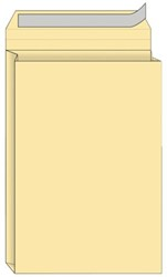 Envelop Quantore monsterzak 229x324x38mm zelfkl creme 125st