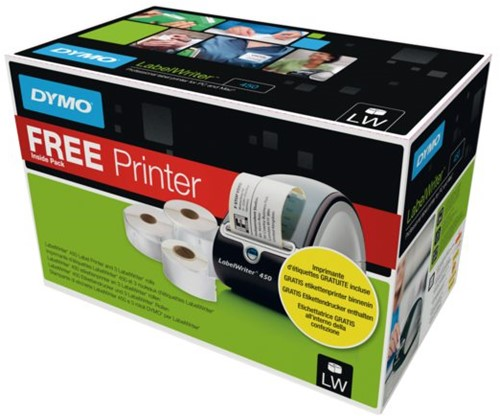 Labelprinter Dymo labelwriter 450 gratis bij etiketten