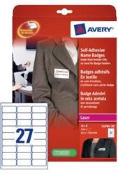 Badge Avery L4784-20 63.5x29.6mm zelfklevend 540stuks