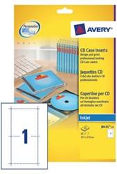 Cd inlegkaart Avery J8431-25 121x242mm 165gr
