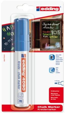 Viltstift edding 4090 window schuin blauw 4-15mm op blister