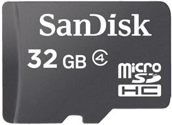GEHEUGENKAART SANDISK MICRO SDHC 32GB CL4
