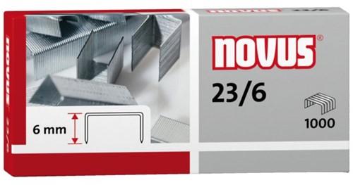 Nieten Novus 23/6 verzinkt standaard 1000stuks