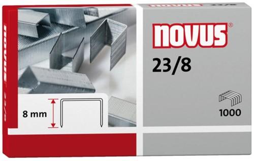 Nieten Novus 23/8 verzinkt standaard 1000stuks
