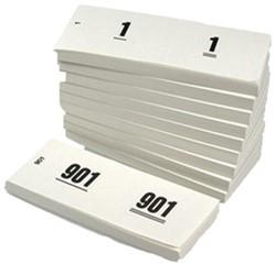 Nummerblok Combicraft 42x105mm nummering 1-1000 wit 10 stuks