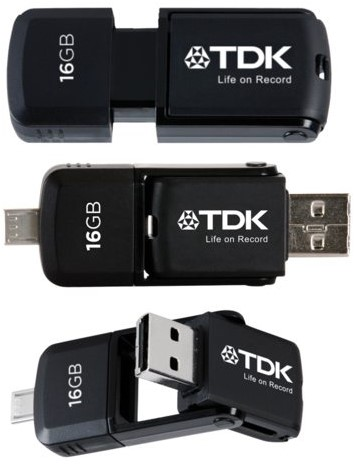 USB-STICK TDK MICRO FD 2IN1 16GB