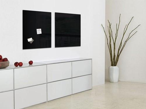 Glasbord Sigel magnetisch 480x480x15mm zwart