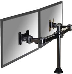 Flatscreenarm Newstar D960DG 2 schermen+bureaudoorvoer zwart